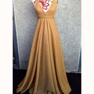 vestido brillo gold