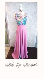 vestido tipo estampado