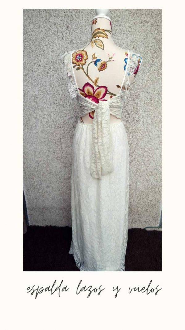 vestido halter encaje espalda