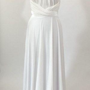 vestido multiforma blanco 👗