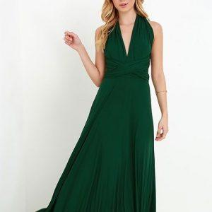 vestido multiforma verde