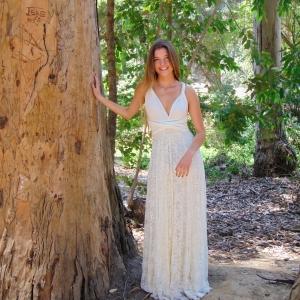 vestido multiforma novia encaje 👗