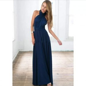 vestido multiforma azul marino